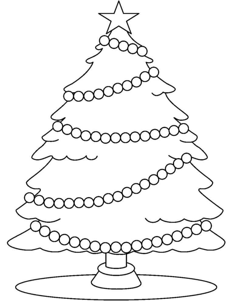 Immagini Di Natale Da Stampare Gratis.Disegno Di Albero Con Stella Di Natale Da Colorare Per