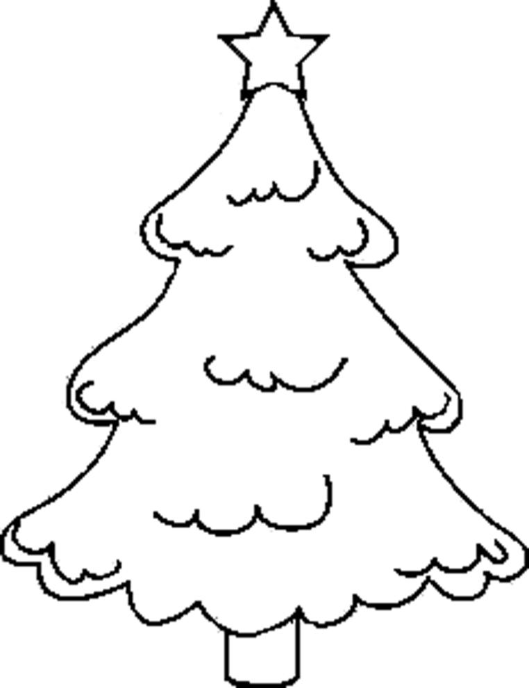 Immagini Di Alberi Di Natale Da Colorare E Stampare.Disegno Di Albero Innevato Da Colorare Per Bambini