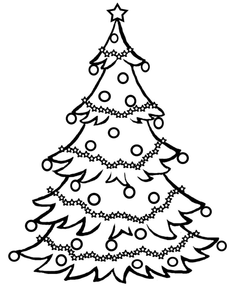 Disegni Di Natale Gratis Da Colorare Per Bambini.Disegno Di Albero Natalizio Da Colorare Per Bambini