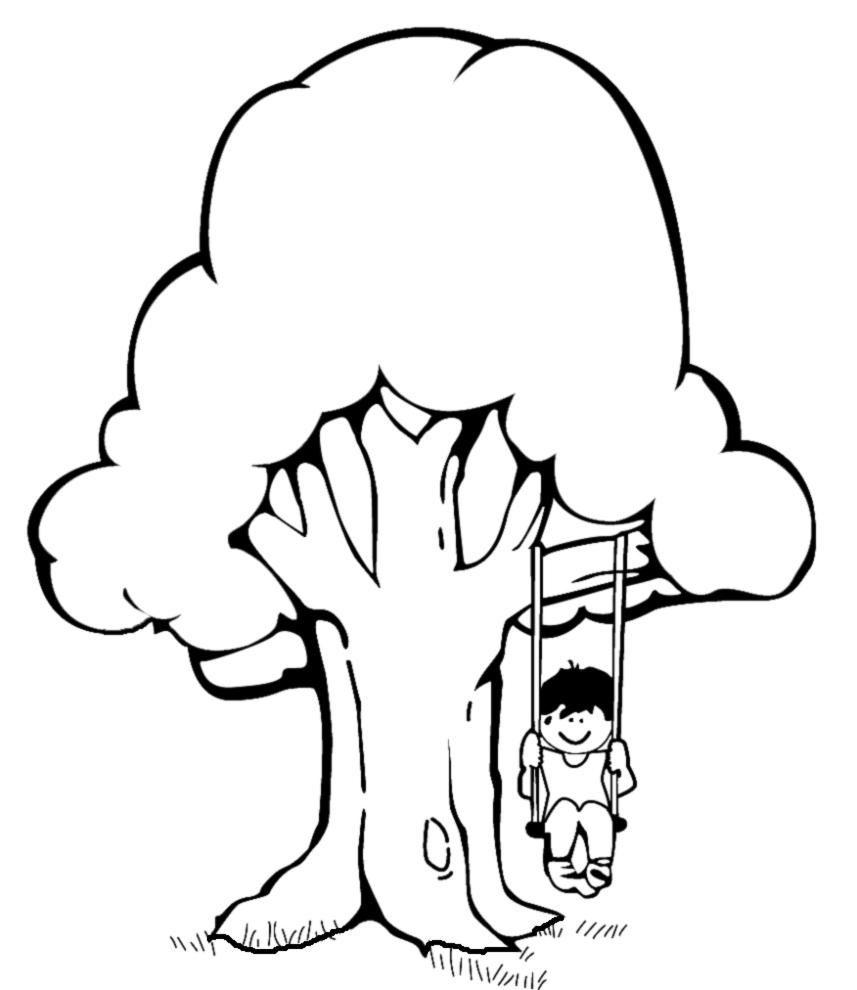 Disegno Di Altalena Da Colorare Per Bambini