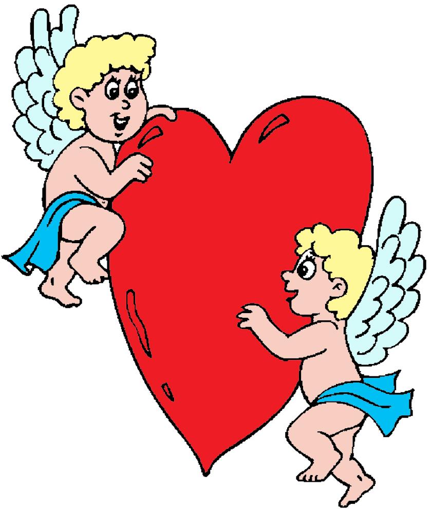 Amato Disegno di Angeli con Cuore a colori per bambini  XE57