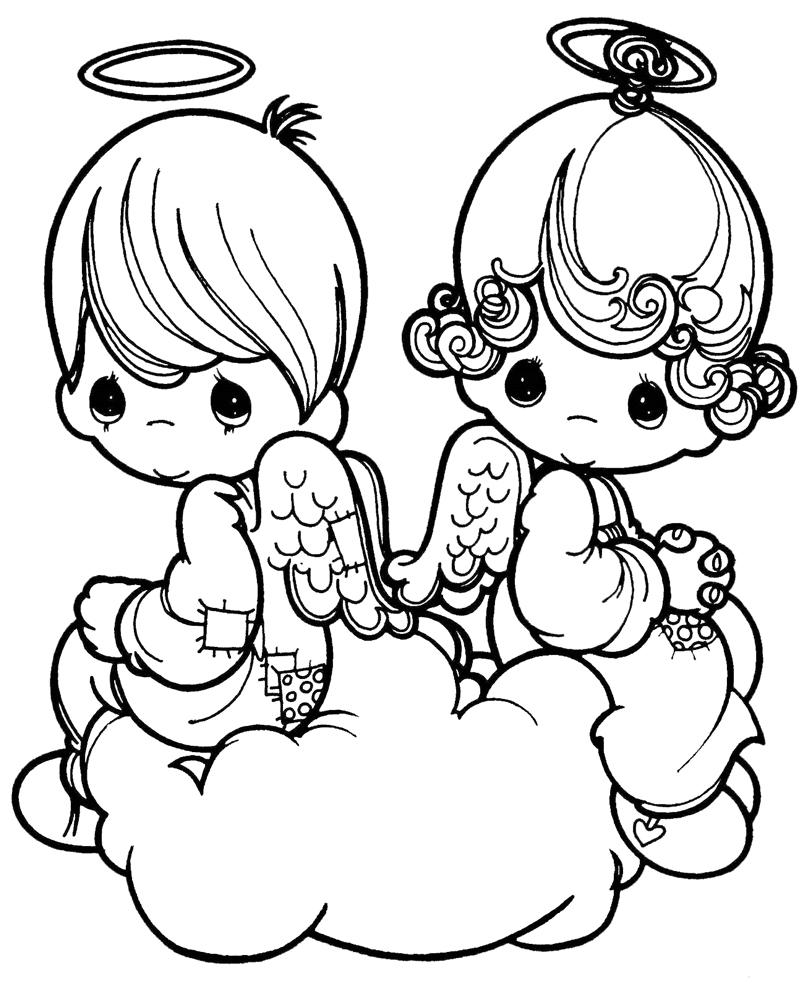 disegni da colorare gli angeli