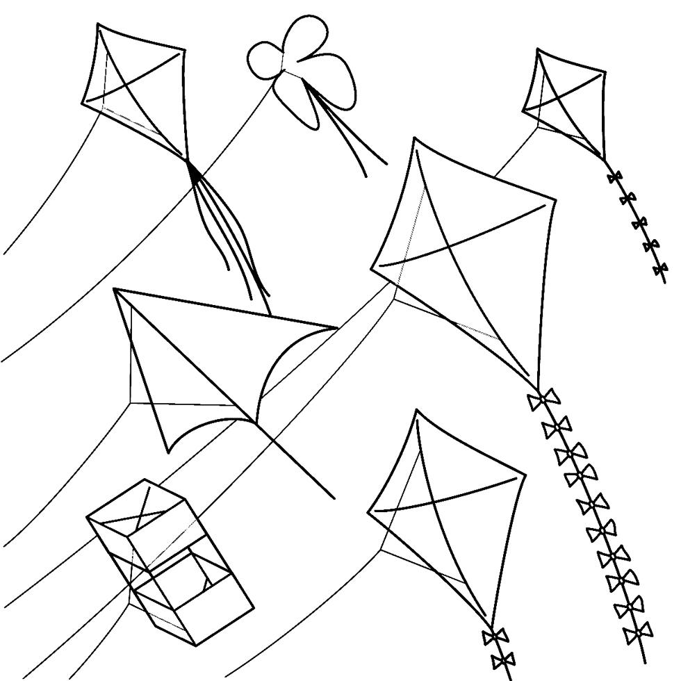 Disegno Di Aquiloni Da Colorare Per Bambini
