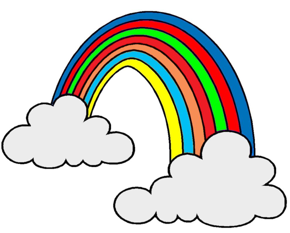 Connu Disegno di Arcobaleno e Nuvole a colori per bambini  HD36
