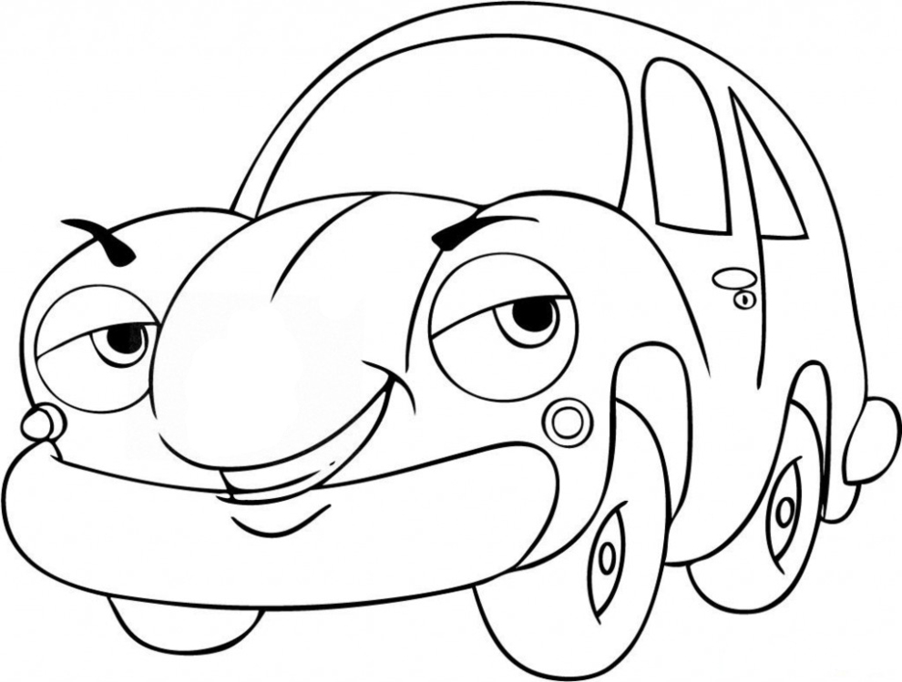 disegni da colorare e stampare automobili
