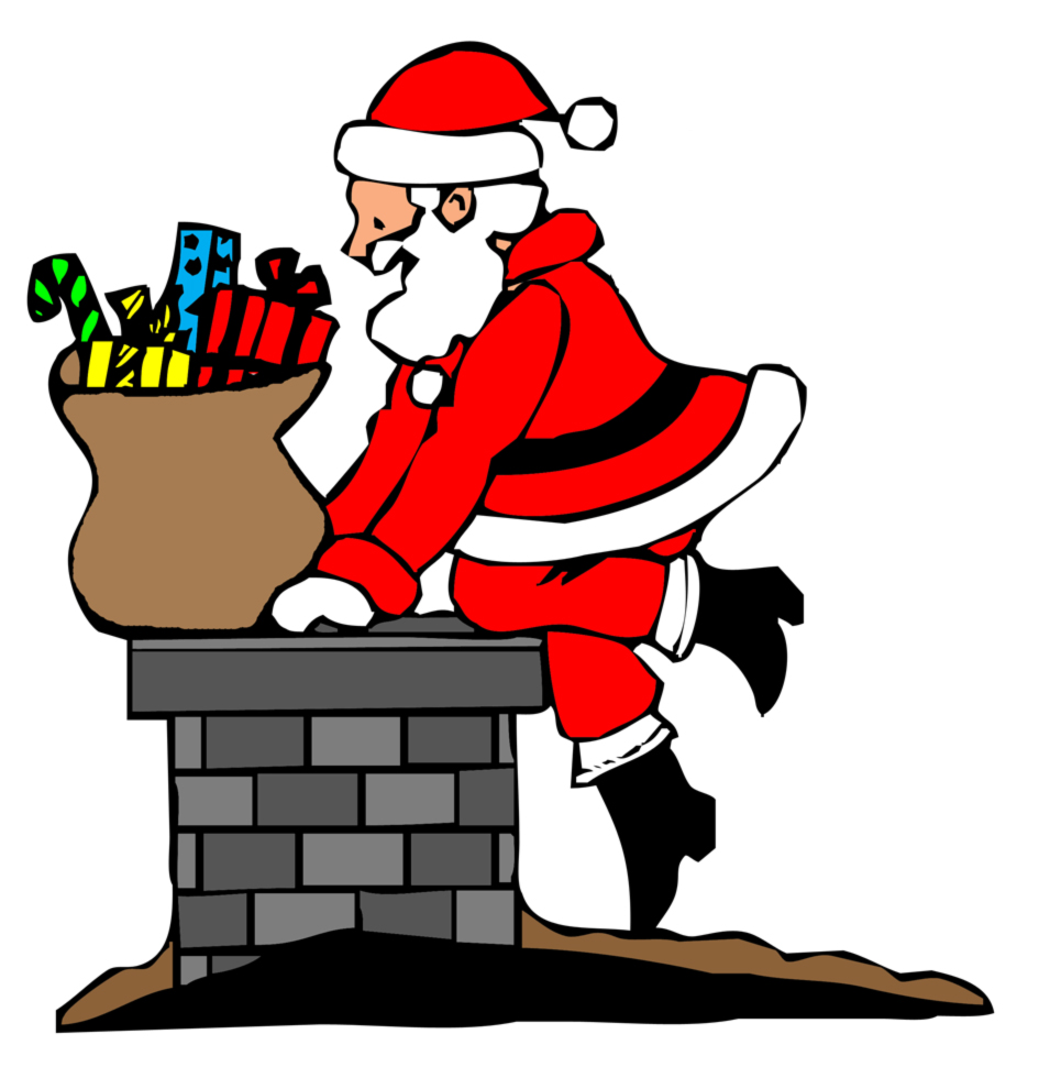 Immagini Colorate Di Babbo Natale.Disegno Di Babbo Natale Nel Camino A Colori Per Bambini Disegnidacolorareonline Com