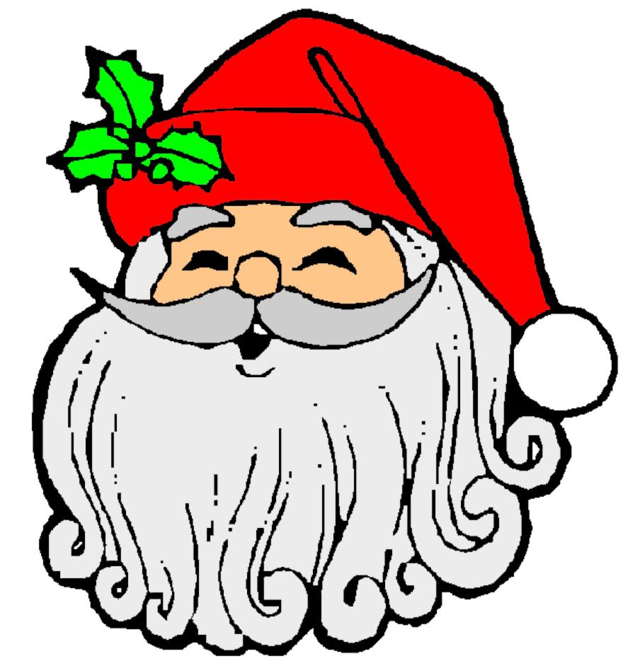 Immagini Colorate Di Babbo Natale.Disegno Di Babbo Natale Sorridente A Colori Per Bambini Disegnidacolorareonline Com