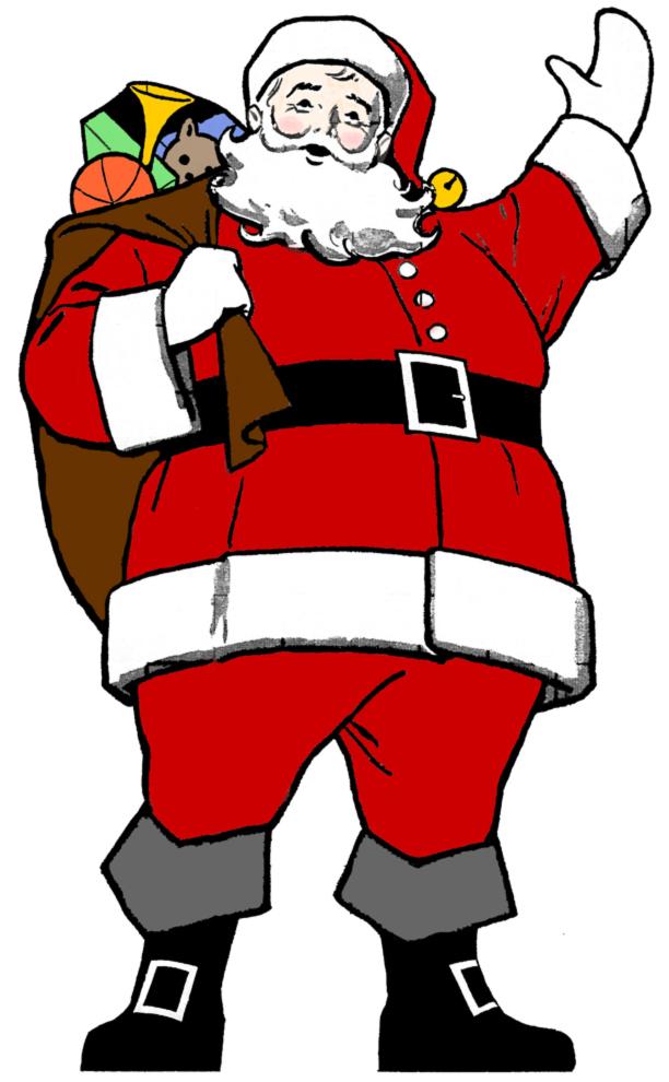 Bambini Babbo Natale Disegno.Disegno Di Babbo Natale A Colori Per Bambini Disegnidacolorareonline Com
