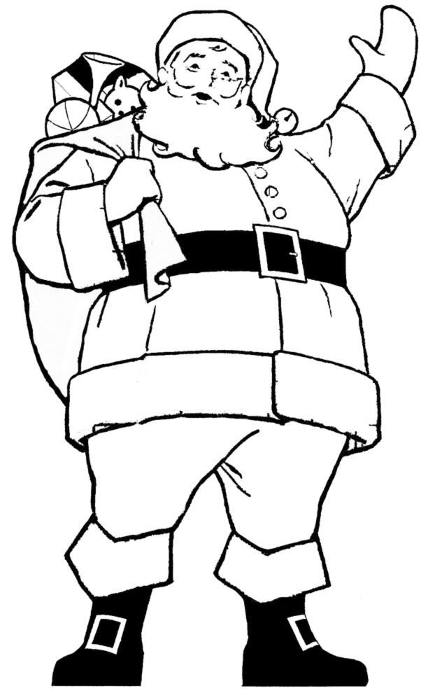 Po20261fa9 Disegni Di Babbo Natale Da Colorare Unadonna
