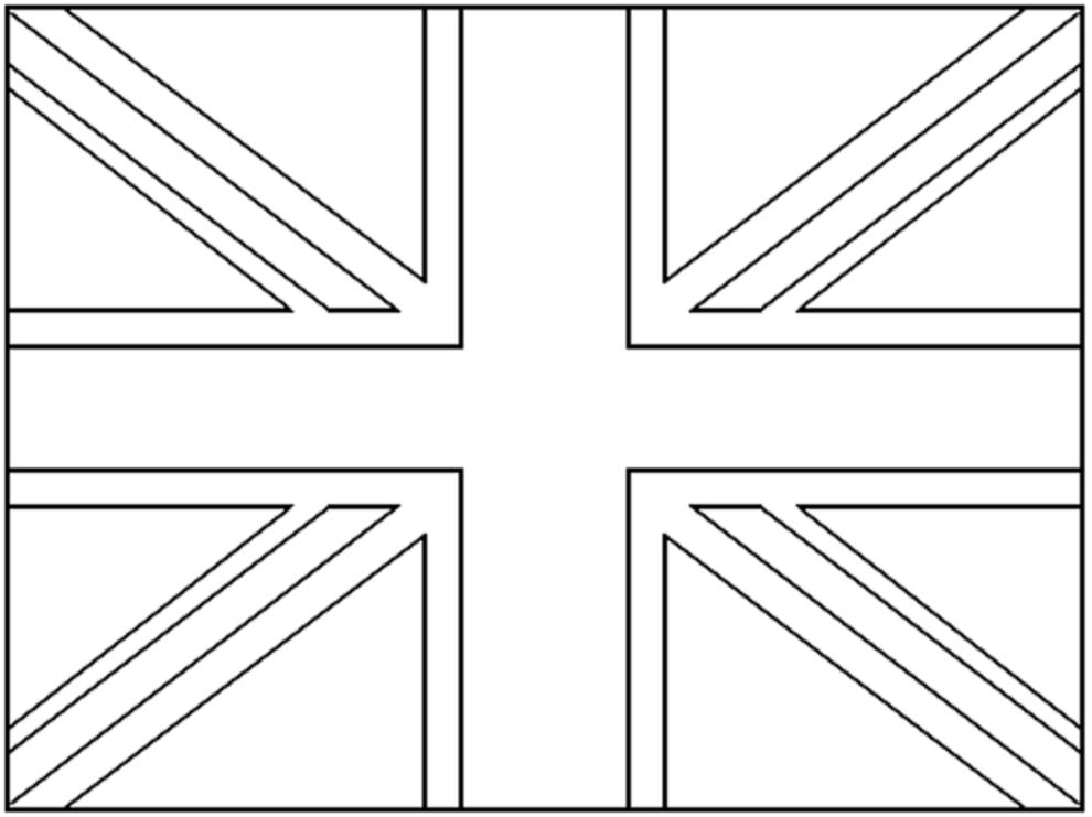 Disegno Di Bandiera Del Regno Unito Da Colorare Per Bambini