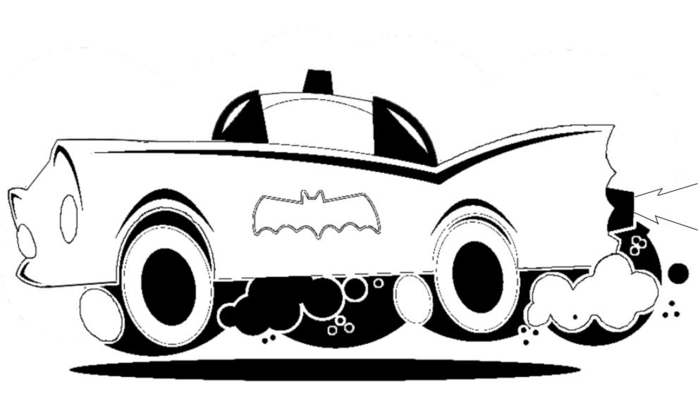 Disegno Di Batmobile Da Colorare Per Bambini