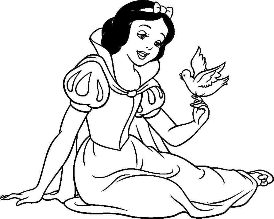 disegni da colorare della fiaba di biancaneve