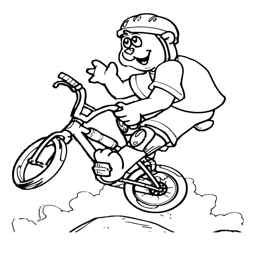 Super Disegno di Mountain Bike da colorare per bambini  DX42
