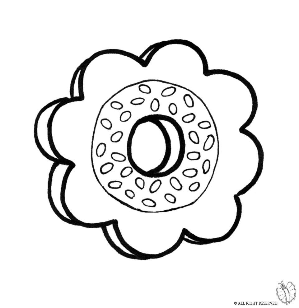Disegno Di Biscotti A Colori Per Bambini
