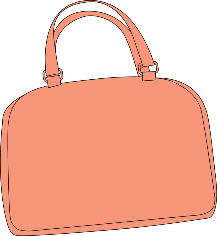 Disegno Di Borsa Rosa A Colori Per Bambini Disegnidacolorareonline Com