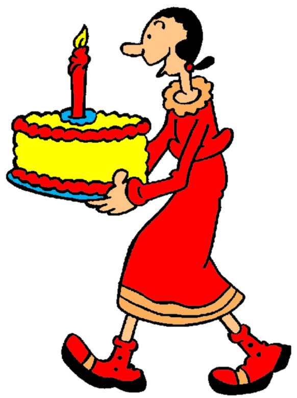 Estremamente Disegno di Olivia Buon Compleanno a colori per bambini  YE94