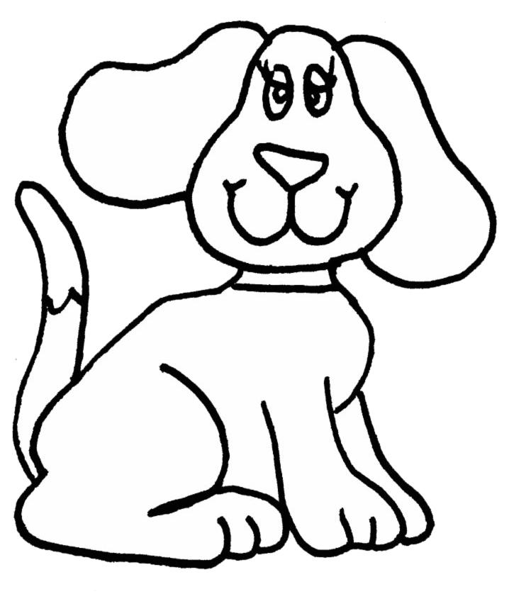disegni da colorare sul cane