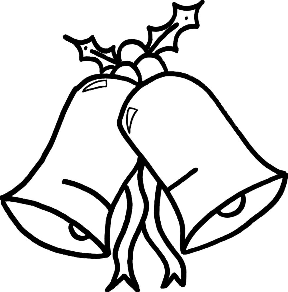 Disegni Di Natale Da Stampare Gratis.Disegno Di Campane Di Natale Da Colorare Per Bambini