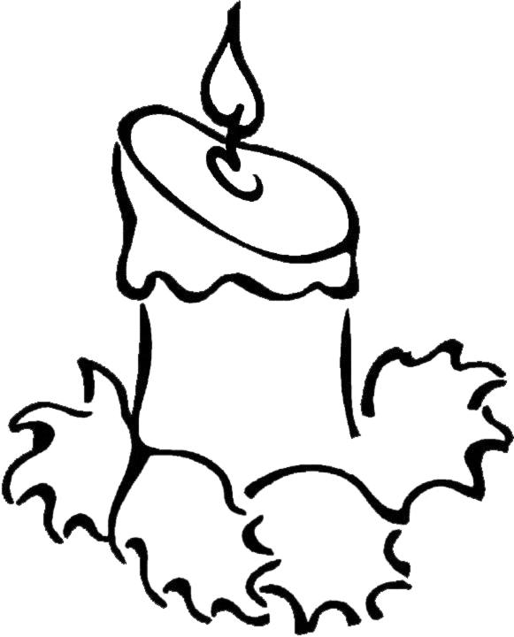 Immagini Di Natale Da Colorare Sul Computer.Disegno Di Candela Di Natale Da Colorare Per Bambini