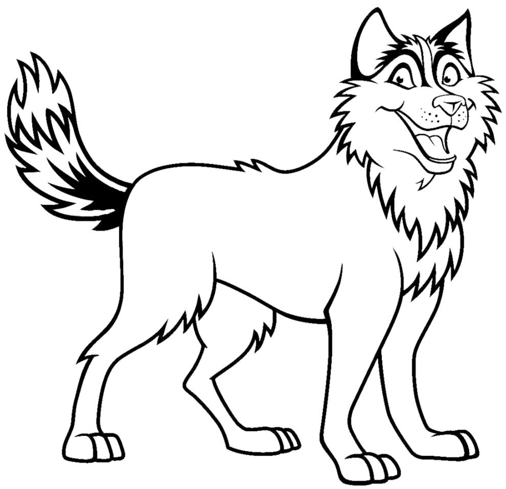 disegni da colorare il cane