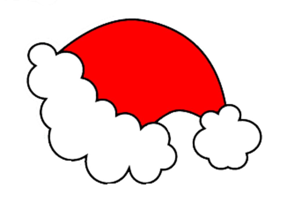 Cappello Babbo Natale Disegno.Disegno Di Cappello Di Natale A Colori Per Bambini Disegnidacolorareonline Com