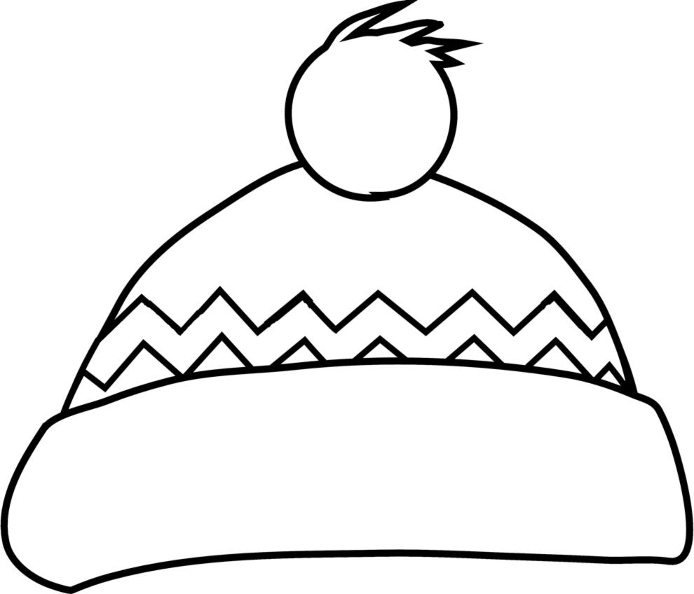Disegno Di Cappello Natalizio Da Colorare Per Bambini