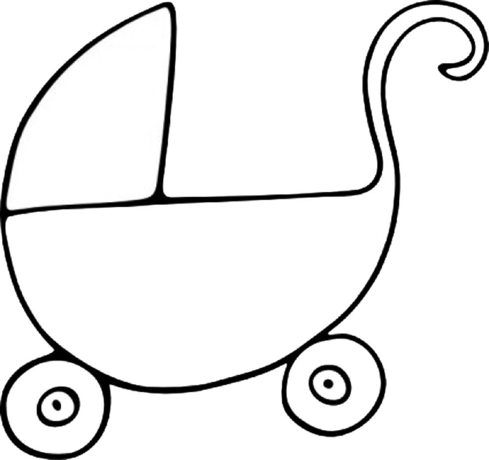 spesso Disegno di Carrozzina da colorare per bambini  FN16