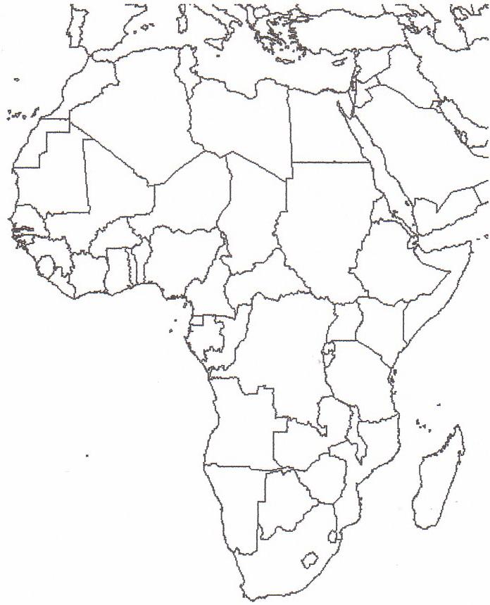 Cartina Muta India Da Stampare.Cartina Politica Dell Africa Da Stampare