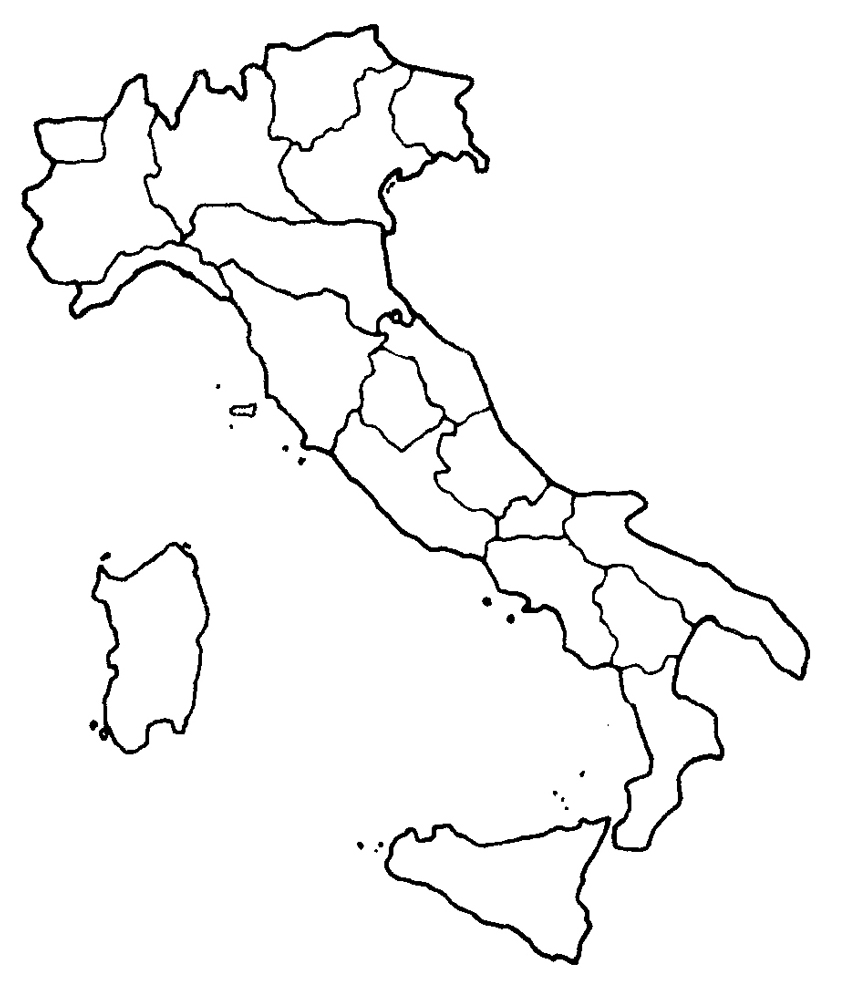 Cartina Dell Italia Da Colorare Per Bambini Pieterduisenberg