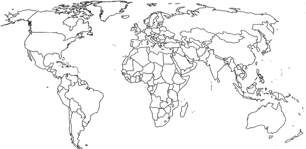 Popolare Disegno di Cartina Politica Mondo da colorare per bambini  GA69