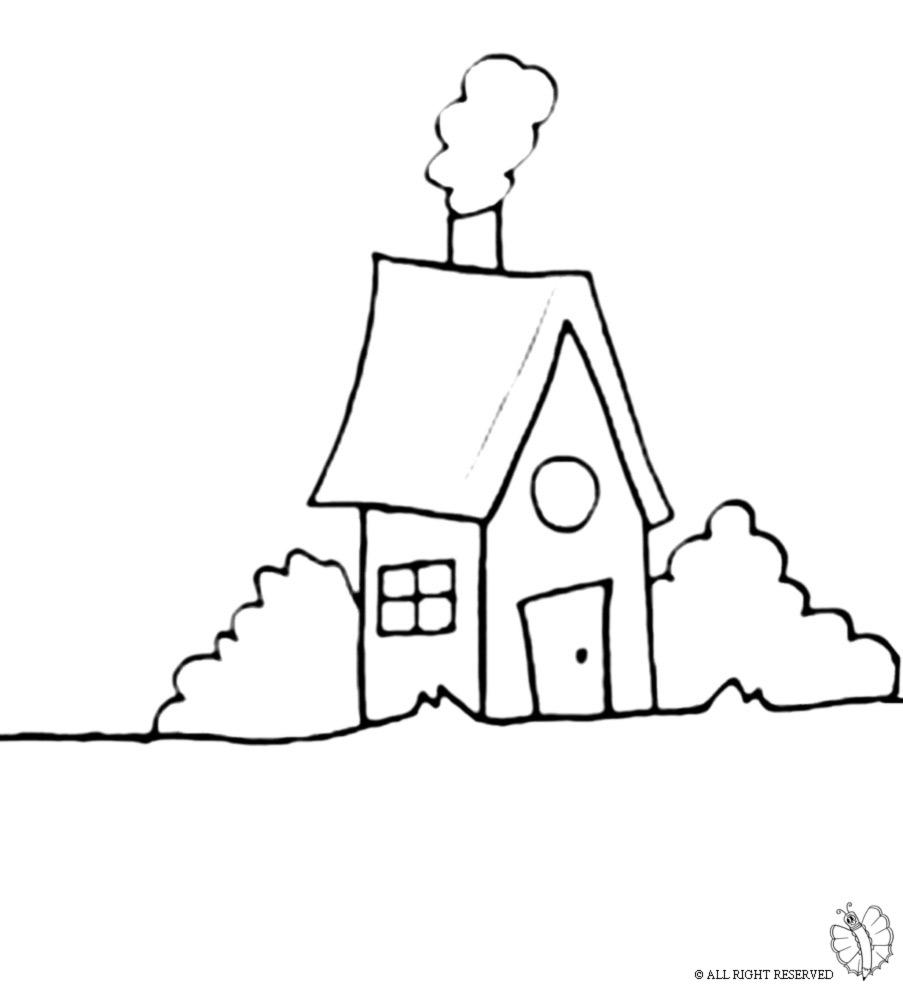 Super Disegno di Casa nel Bosco da colorare per bambini  ED28