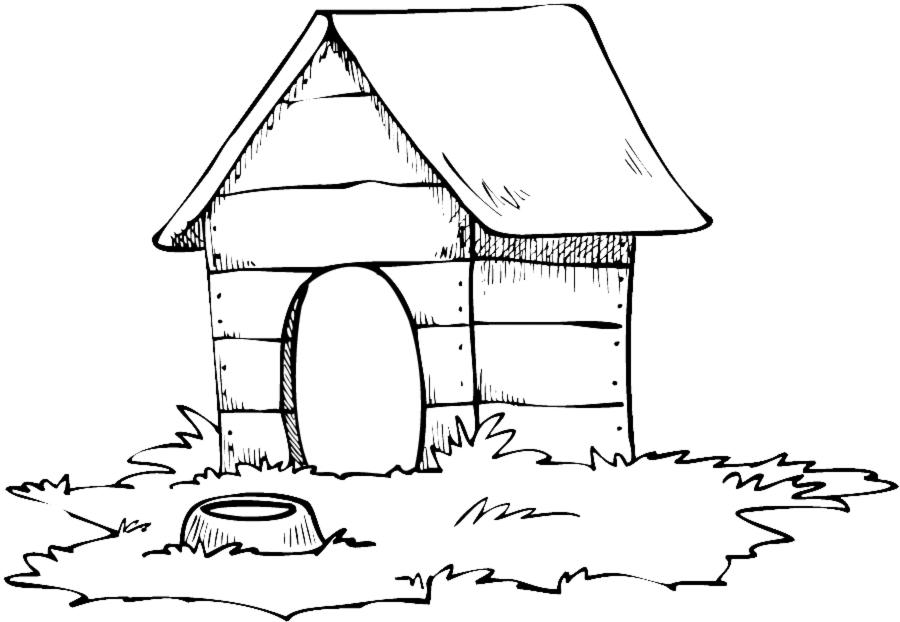 Assez Disegno di Casa del Cane da colorare per bambini  XQ13