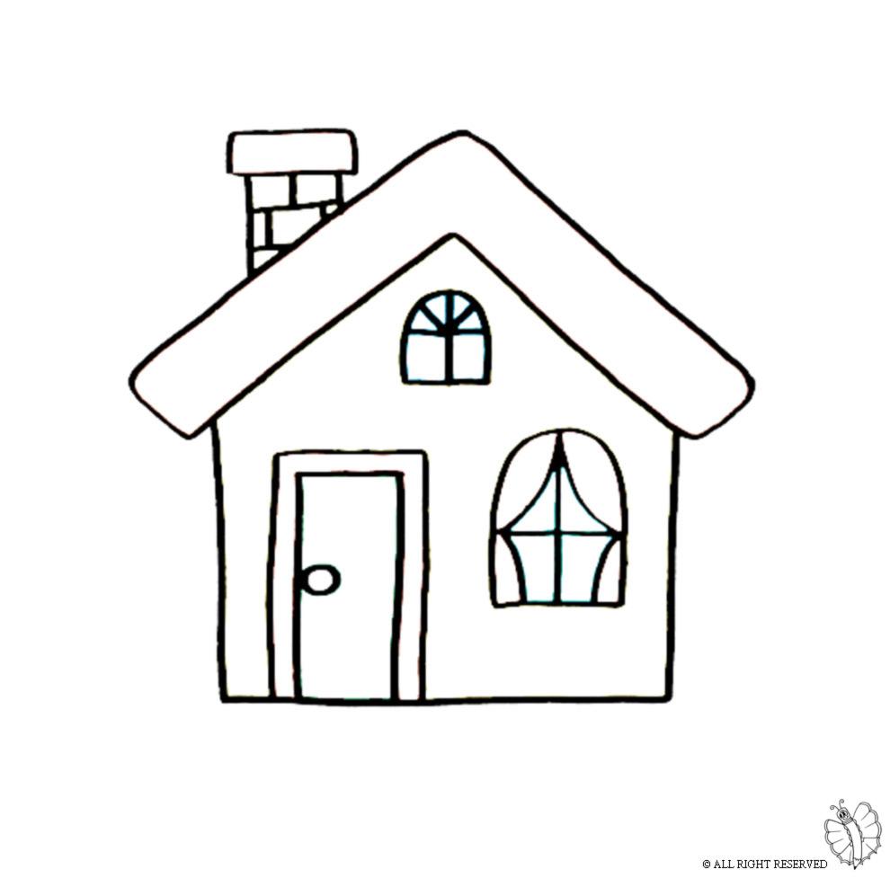 Fabuleux Disegno di Casa con Camino da colorare per bambini  AC27