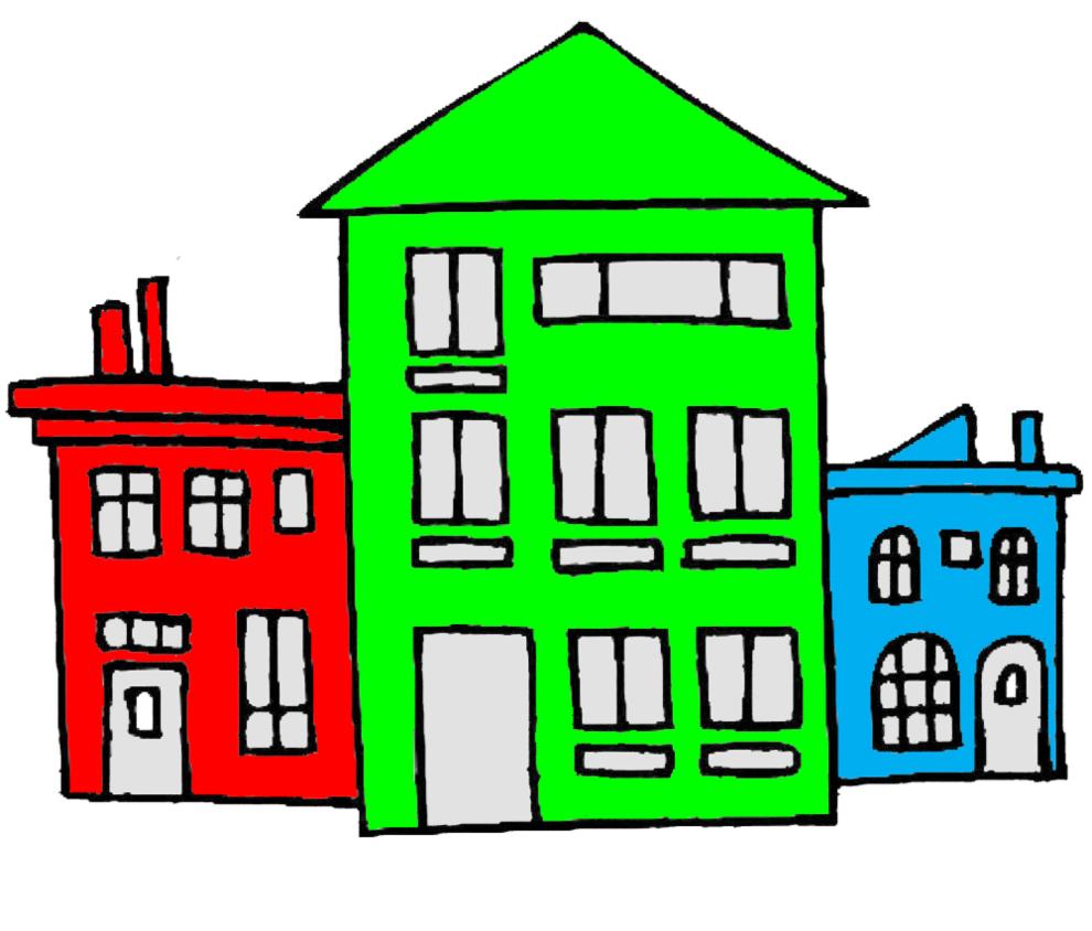 disegno di case a colori per bambini - disegnidacolorareonline.com - Disegni Case Bambini