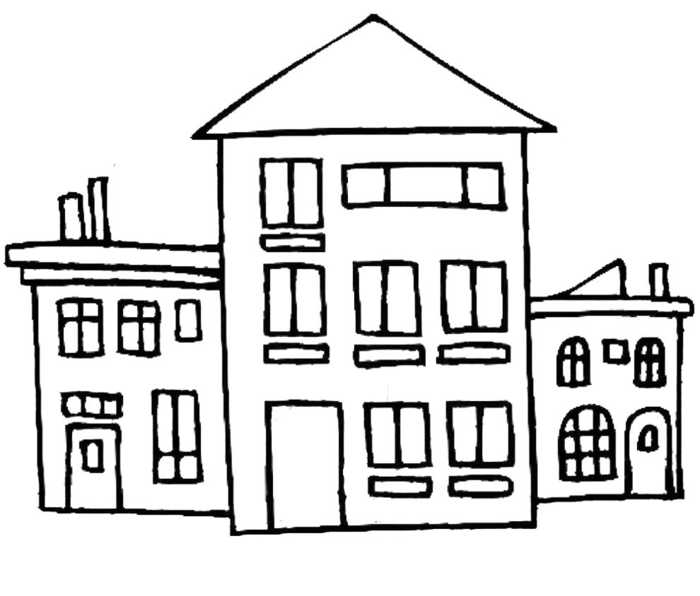 Disegni da colorare di case fare di una mosca for Stampare piani di casa