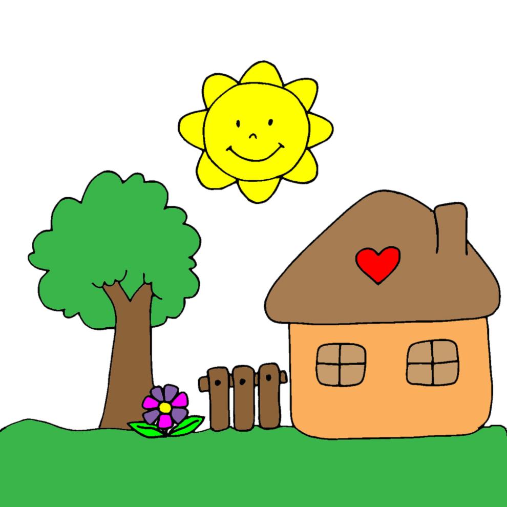 Disegno casa per bambini ze51 regardsdefemmes - Casa a colori ...