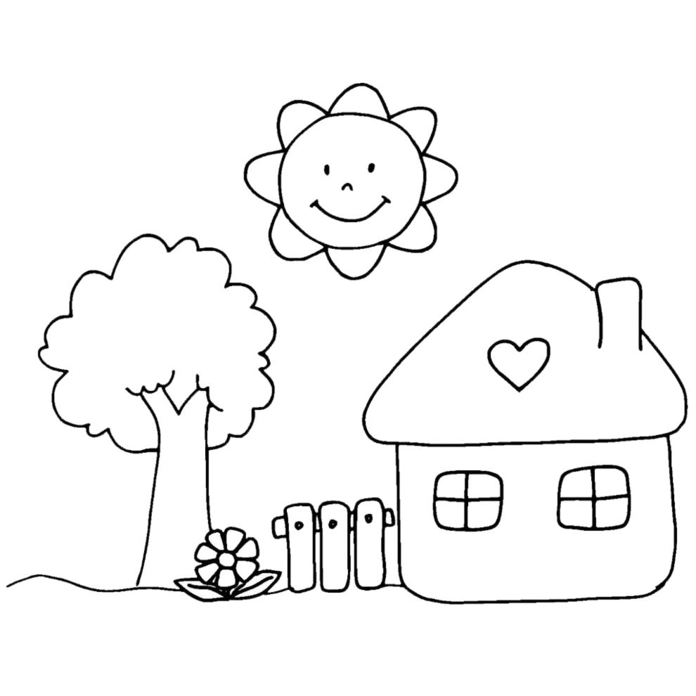 spesso Disegno di Casetta in Campagna da colorare per bambini  FL11