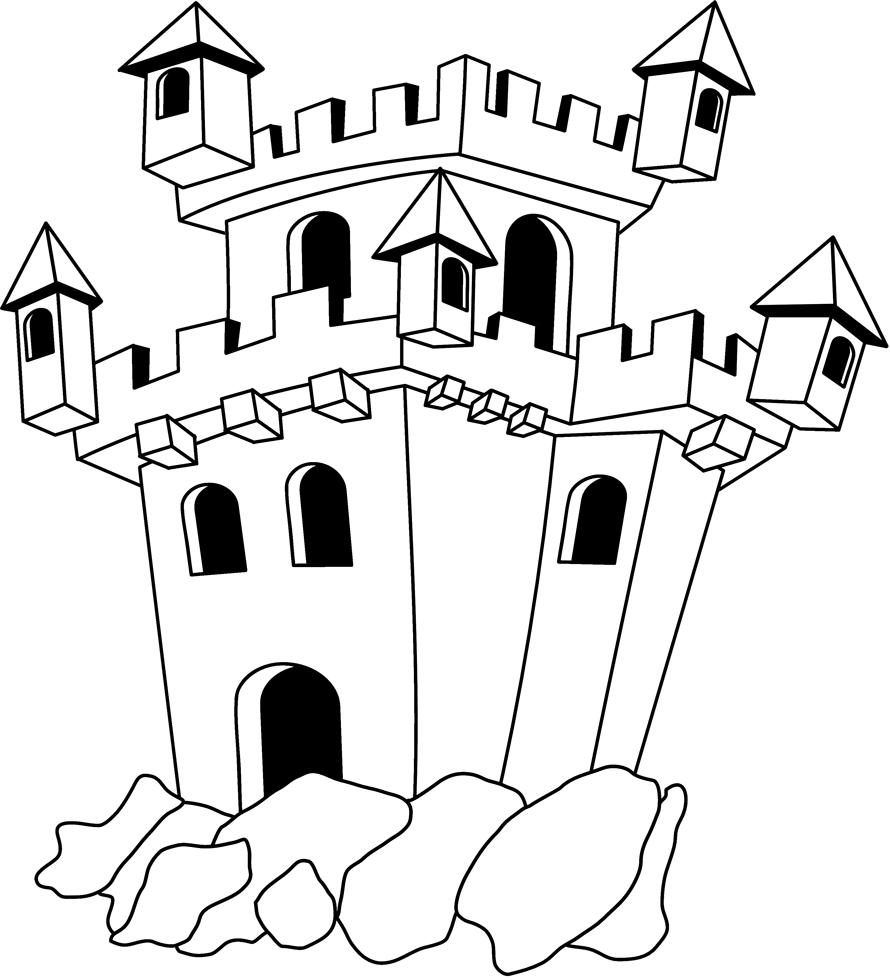 Risultati immagini per castello da colorare