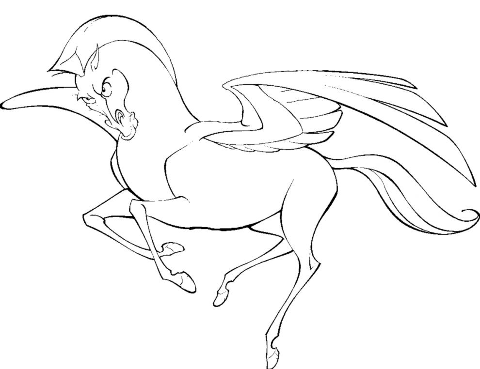 Disegno Di Cavallo Alato Da Colorare Per Bambini