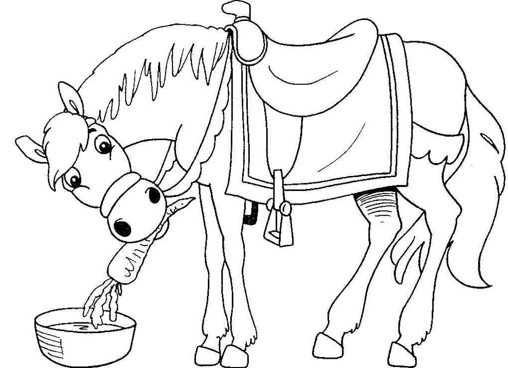 disegni da colorare per bambini cavallo