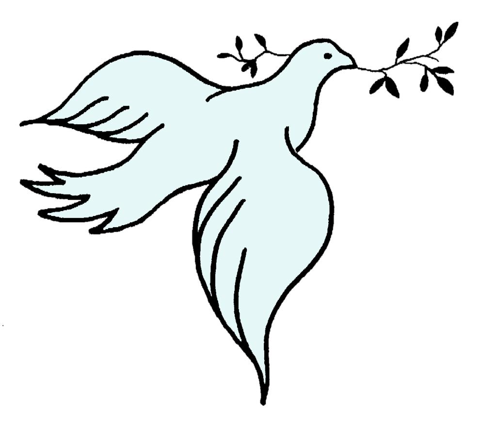 Eccezionale Disegno di Colomba della Pace a colori per bambini  NO01