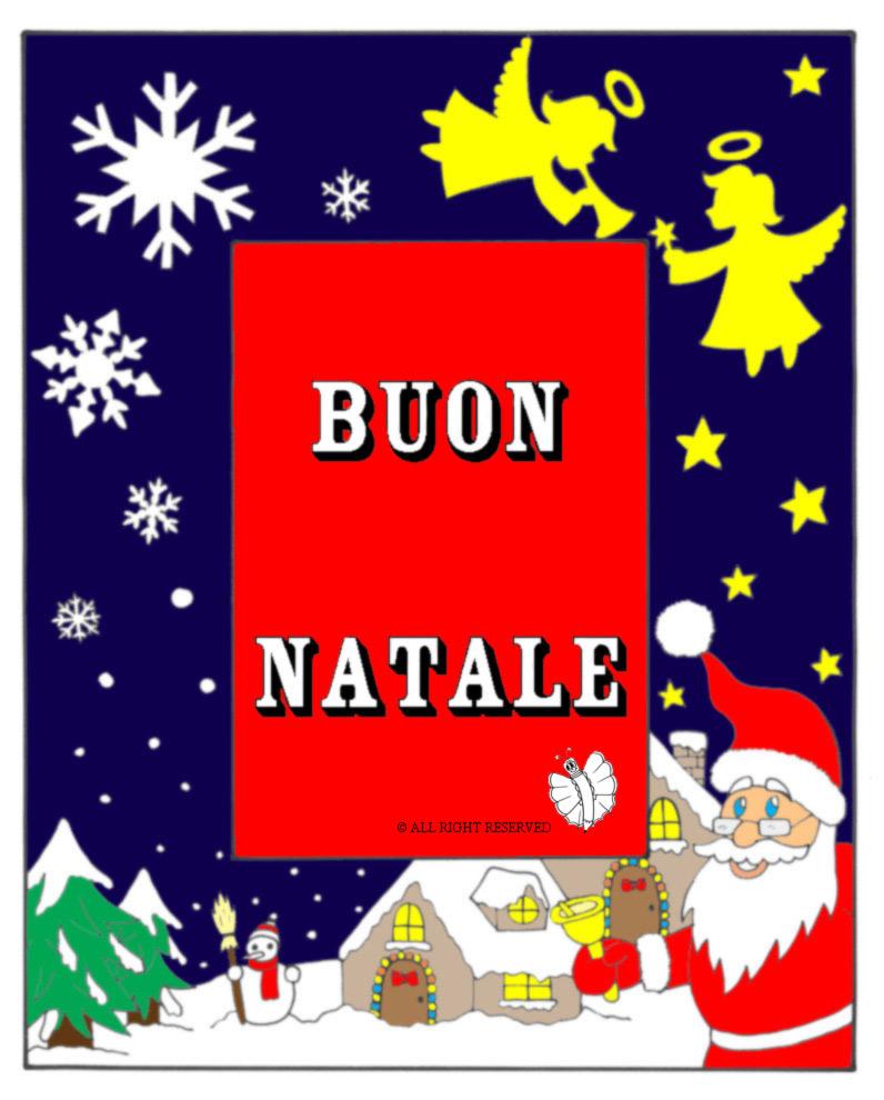 Disegno Di Cornice Buon Natale A Colori Per Bambini