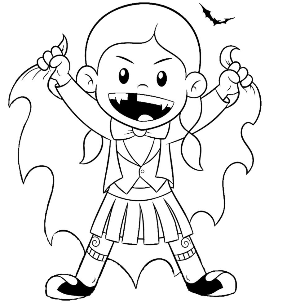 disegni da colorare per bambini vampiri