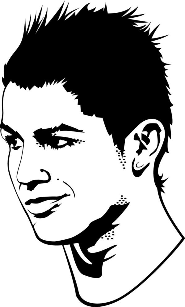 Disegno Di Cristiano Ronaldo Da Colorare Per Bambini