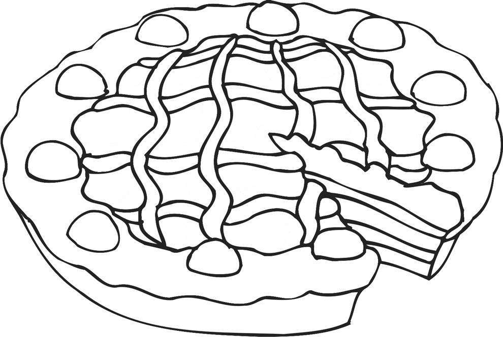 Disegno Di Crostata Da Colorare Per Bambini