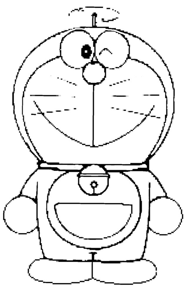 Disegno Di Doraemon Da Colorare Per Bambini