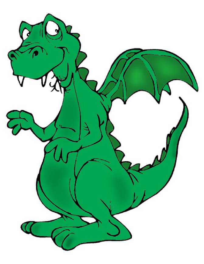 abbastanza Disegno di Il Drago a colori per bambini - disegnidacolorareonline.com YA13