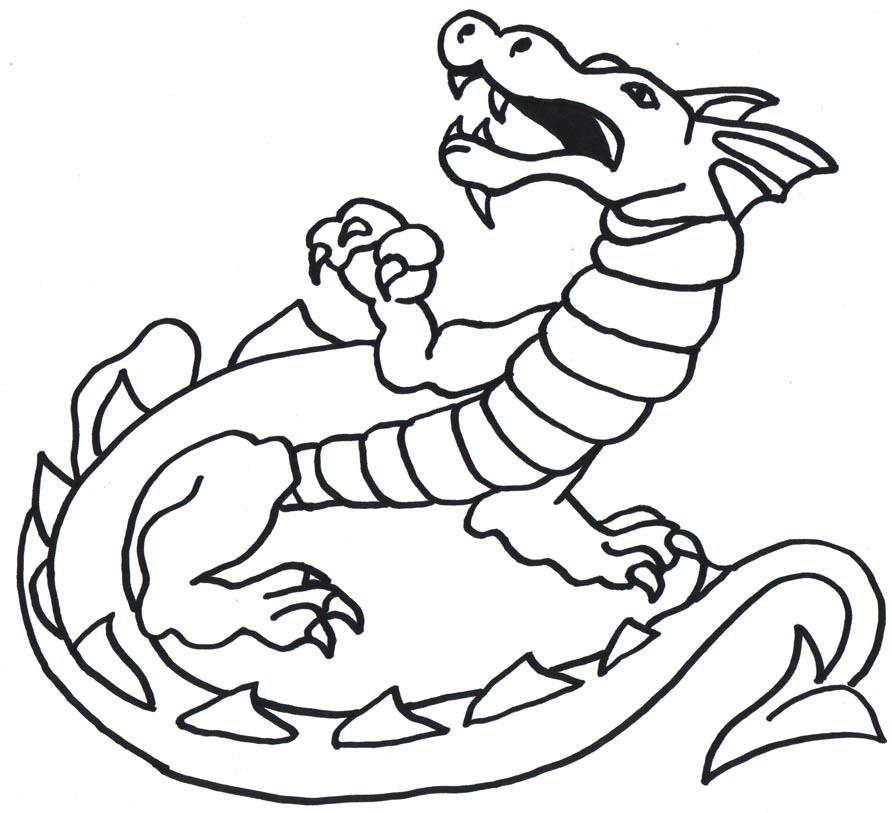 spesso Disegni con draghi per bambini - disegnidacolorareonline.com UM94