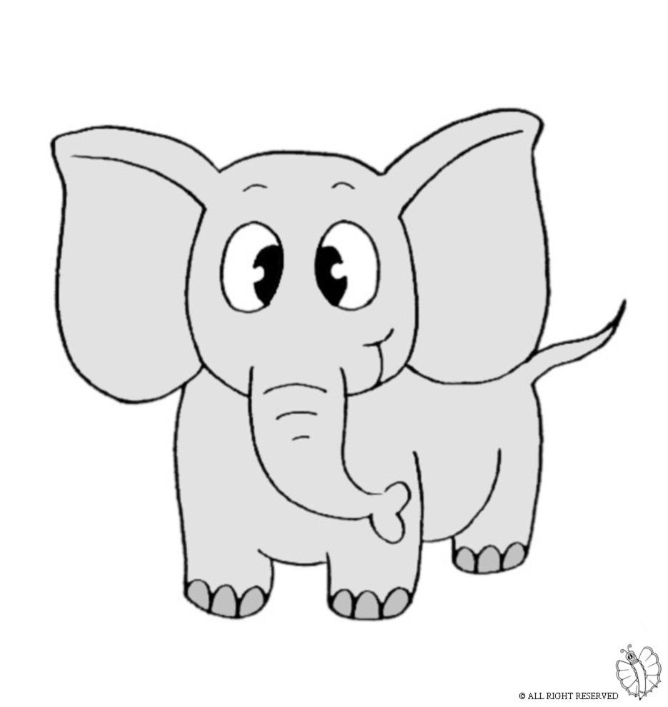 Top Disegno di Elefante a colori per bambini - disegnidacolorareonline.com OY62