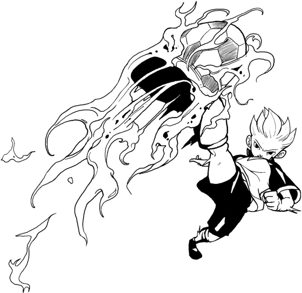 disegni da colorare della inazuma eleven